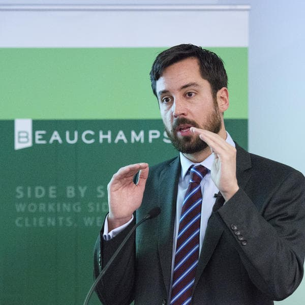 Eoghan Murphy talks at the Social Housing event